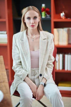 Confident business woman working in a modern office. Business concept. Reklamní fotografie