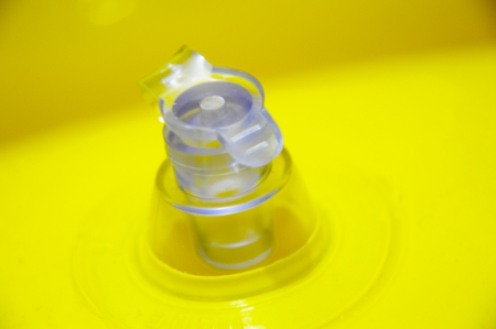 Closeup for Air Valve on Yellow Tube