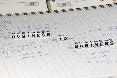 b2b: Planificaci�n B2B Foto de archivo