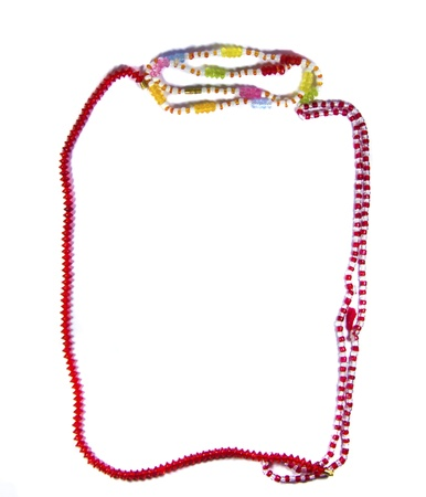 Beads forming mardi gras frame and its background for various purposes   photo