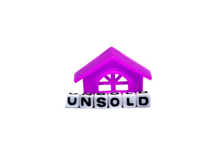Conceptual image for showing unsold properties and homes   Stock Photo