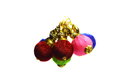 bunched: Few christmas balls of different colors bunched together  Stock Photo