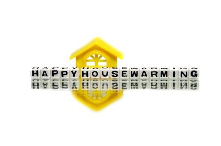 housewarming: Housewarming message with yellow home