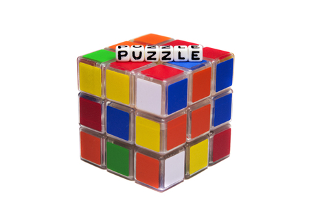 unsolved: Puzzle text on rubik Editorial