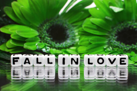 hankering: Green flower theme for fall in love message