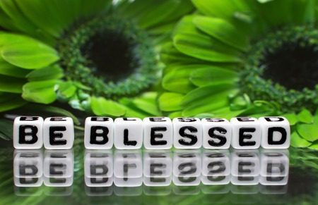 Green flowers and be blessed text message   photo