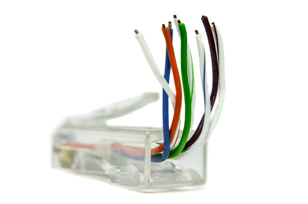 rj 45: Ethernet cat5 connector for networking