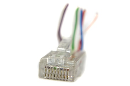Ethernet rj45 conector for cat5 cable