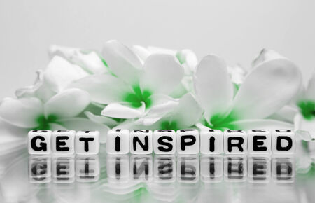 Get inspired text message with green theme and flowers.