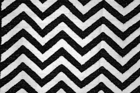 fabric patterns: Zigzag pattern in white and black color