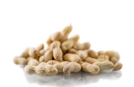 kept: Many peanuts kept together Stock Photo