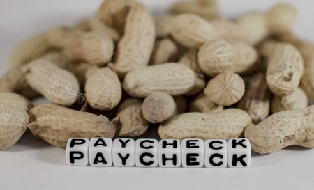 paycheck: Peanuts and paycheck text message