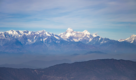 snow covered mountains: Snow covered mountains and the highest peaks of himalayas