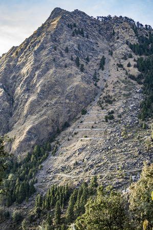 tough: Slopes leading to rocky mountain which is straight and tough.