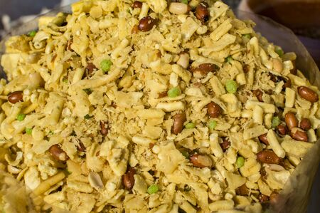 sev: Mixed namkeen with peanuts and others.