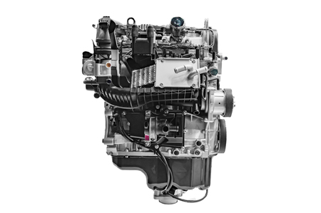 unbranded: Unbranded car engine on display and white.