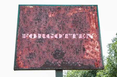 forgotten: Forgotten text message on display board. Stock Photo
