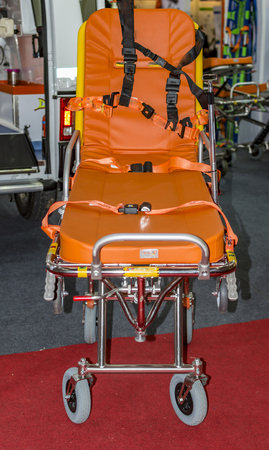 gurney: Ambulance and stretcher for transporting patients