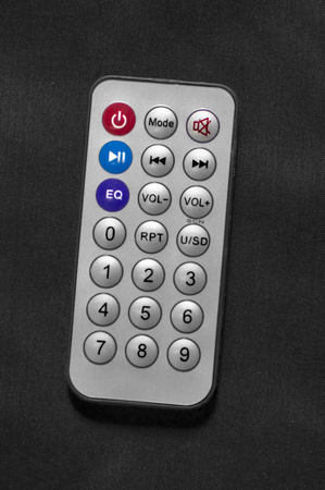 Chrome colored remote control for electronic devices