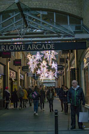 Canterbury, England - November 24, 2018: Shopping experience in Marlowe arcade at kent town -Image