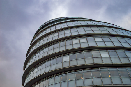 The helmet building of london at south side of town on river thames