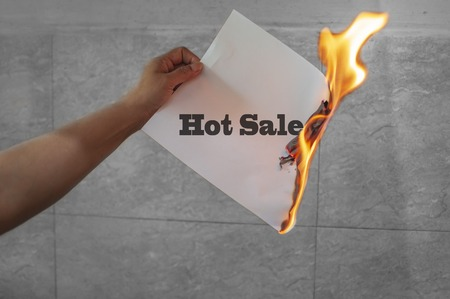 Hot sale fire text on