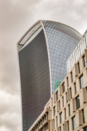 Walkie talkie building in london with other architecture in uk