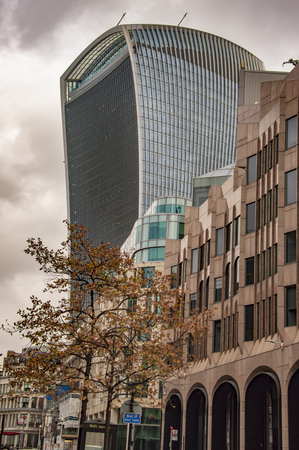 Walkie talkie building london with others in uk
