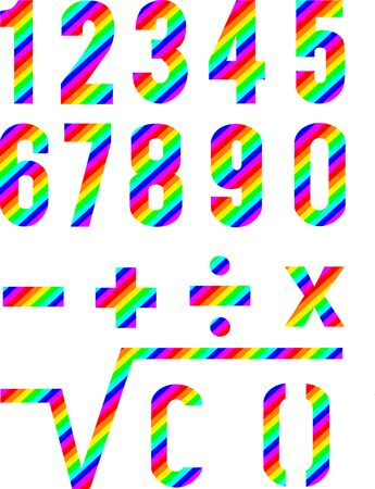 financial figures: Numbers Rainbow Style