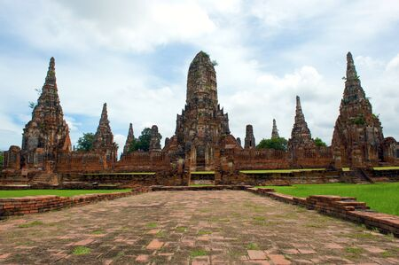 Wat Chai Wattanaram , The world heritage in Ayutthaya, Thailand photo