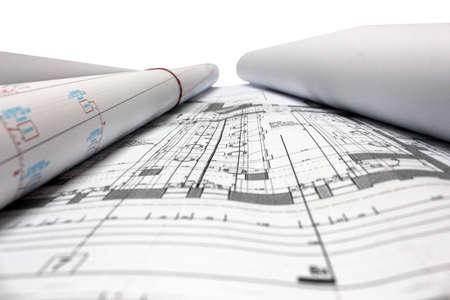building plan: architectural plans Stock Photo