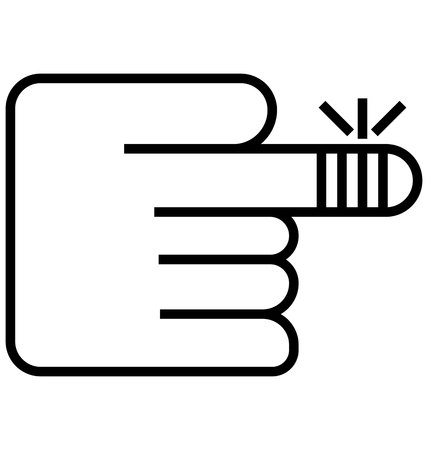 hand injured line vector icon