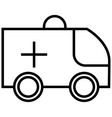 Ambulance Line Isolated