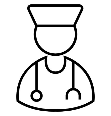 Doctor Line Isolated Vector Icon editable