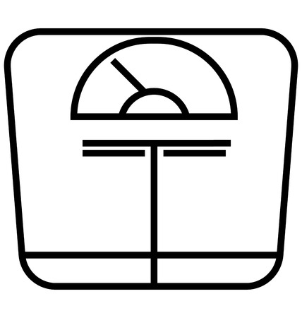 Weight Scale Line Isolated Vector Icon editable