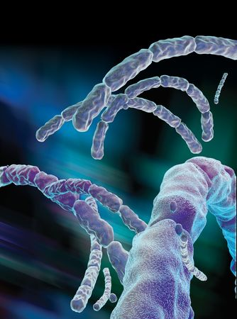 3D rendered conceptualization of Anthrax Virus photo