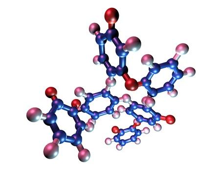 Taxol chemotherapy drug. Molecular model of the chemotherapy drug Taxol (generic name paclitaxel).  Stock fotó