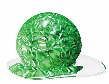 젤 공의 3D 렌더링 개념화