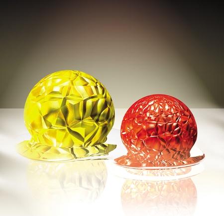 3D gesmolten conceptualisering van gel ballen Stockfoto - 12544861