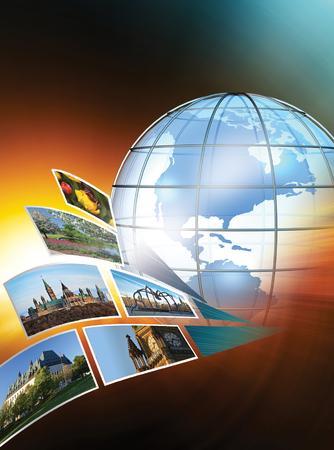 3D rendered global travel concept  Stock fotó