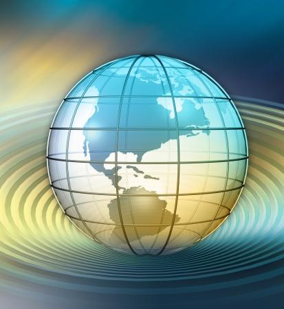 3D Globe Stockfoto