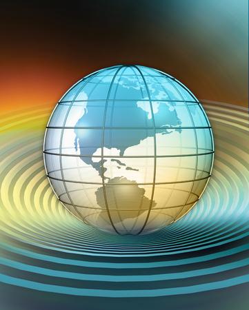 글로브의 3D 렌더링 된 개념화 스톡 콘텐츠