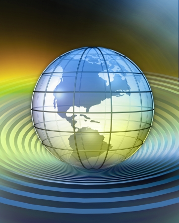 3D rendered conceptualization of Globe-North America Stock fotó - 23273074