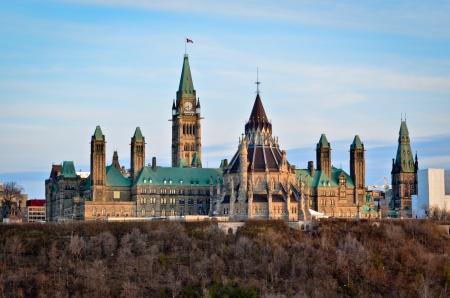 Ottawa city and the Canadian Parliament Stockfoto