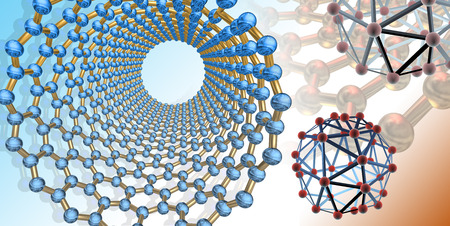 Conceptual artwork related to carbon nanostructures in the environment photo
