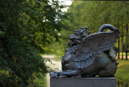Dragon Bridge in the Alexander Park in Tsarskoye Selo.