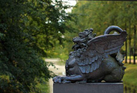 tsarskoye: Dragon Bridge in the Alexander Park in Tsarskoye Selo.