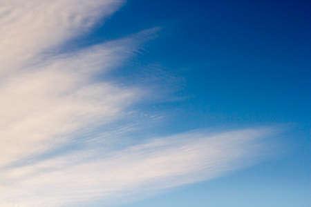 Bright blue sky with white clouds. Banco de Imagens