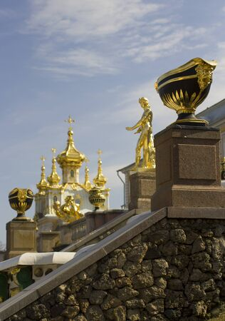 Grand Cascade - the most grandiose construction of the Lower Park in Peterhof.