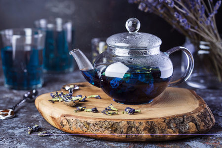 Thai blue tea anchan of buds klitoria Ternate